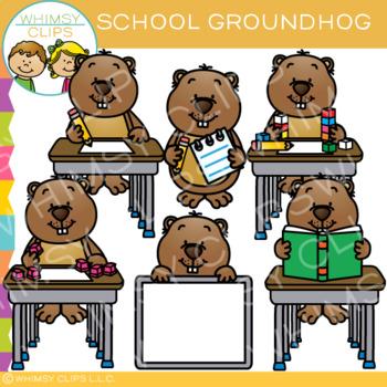School Groundhog Clip Art