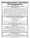School Handouts for VOICE ~Parent & Teacher~ Vocal Hygiene