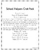 Community Helpers Craft Pack: School Helpers