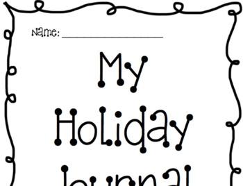 School Holidays Journal