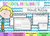 School Holidays Recount Writing 2
