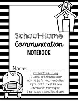 School-Home Communication Binder Covers