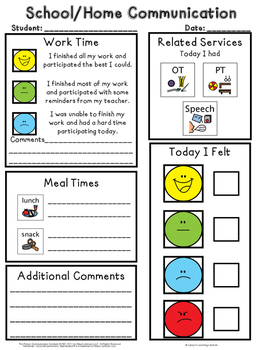 School/Home Communication Letters