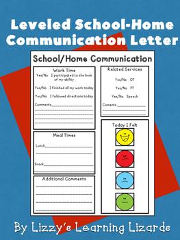 School/Home Communication Letters