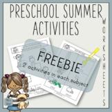 Preschool Activities Worksheets FREEBIE SAMPLE
