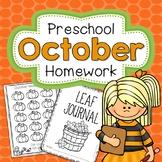 School Home Connection Preschool Homework October