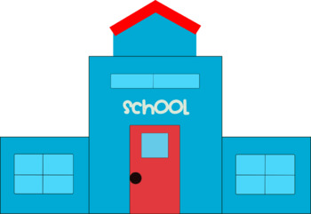 School House Clipart - 10 total - 300 dpi