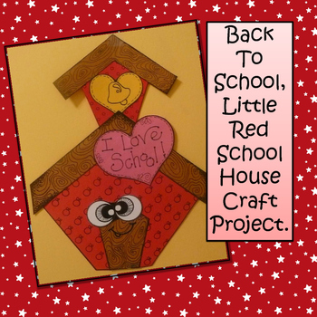 Back to School Craft, School House Craft