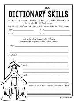 School House Dictionary {a class book}