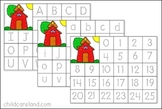 School House Letter and Number Tracing Mats