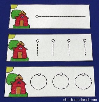School House Pre-Writing Cards