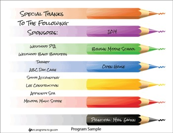 Colored Pencils - Printable Program Template
