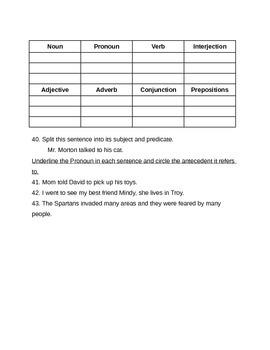 School House Rock Grammar Quiz