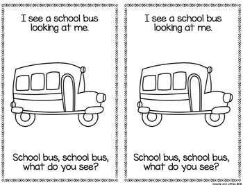 School House, School House What Do You See? Emergent Reader