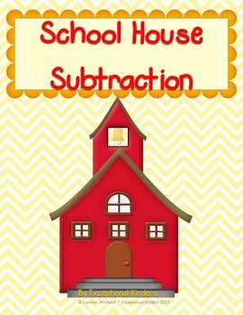 School House - Back to School Subtraction Mats