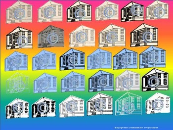 School House (or Mansion) Clip Art