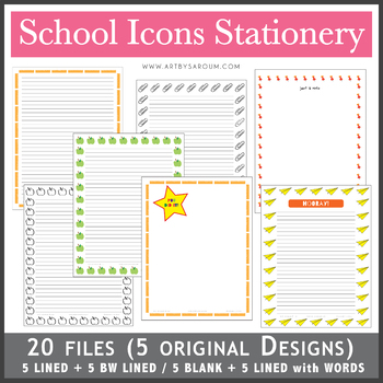 School Icons Stationery