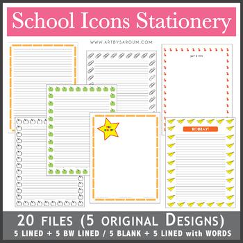 School Icons Stationery