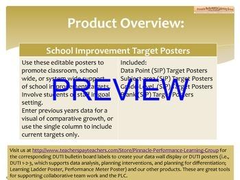 School Improvement Target Posters
