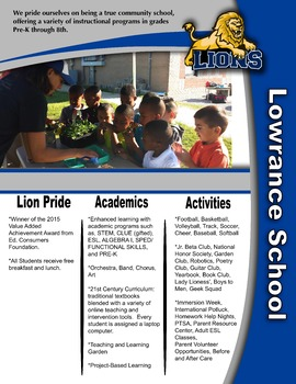 School Information Flyer  - Editable