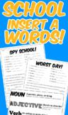 School Insert-A-Word Pack! (Part of Speech Activity)