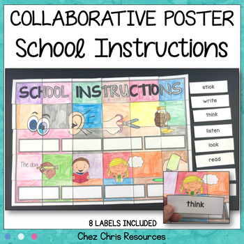 School Instructions Vocabulary - A Collaborative Poster