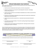 School Instrument Use Contract