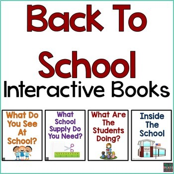 School Interactive Books BUNDLE {Adapted Books}