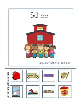 Interactive Vocabulary Book : School (for AAC, non-verbal, low verbal)