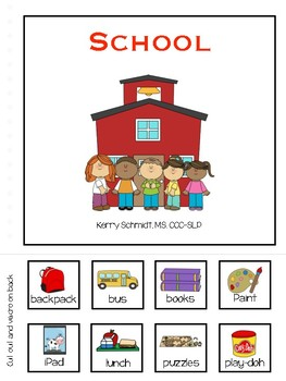 School:  Interactive Vocabulary Book (AAC, low verbal, non-verbal)