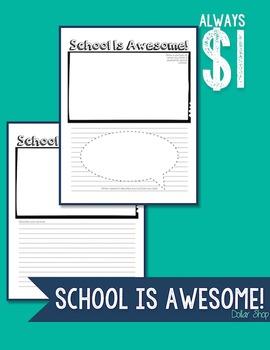 School Is Awesome - Worksheet
