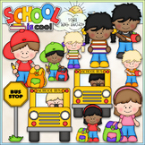 School Is Cool Clip Art - Back To School Clip Art - CU Clip Art & B&W