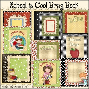 School Is Cool Brag Book Printable