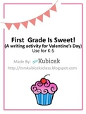 School Is Sweet! Valentine Writing Craft K-5