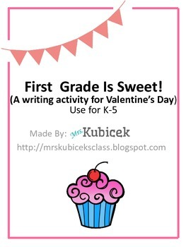 School Is Sweet! Valentine Writing Craft K-5