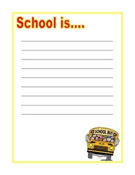School Is.... Writing
