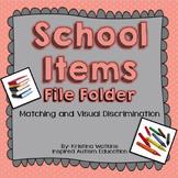 FREEBIE! School Items Autism File Folder Resource