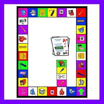 School Items Game Board