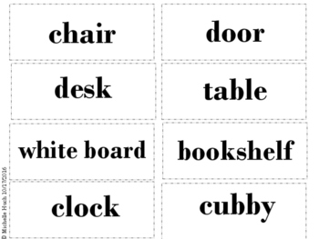 School Items Memory Game for Newcomers
