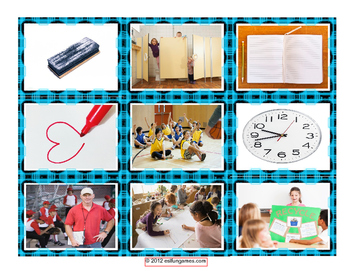 School Items Places & Subject Cards