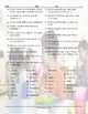 School Items-Places-Subjects Wacky Trails Worksheet