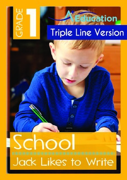 School - Jack Likes to Write (with 'Triple-Track Writing Lines')