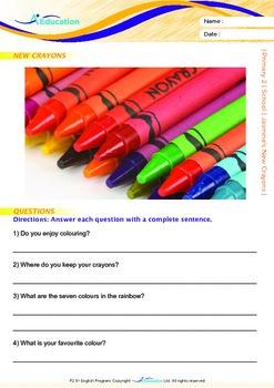 School - Jasmine's New Crayons - Grade 2