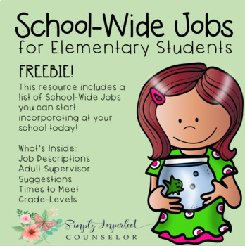 School Jobs for Elementary Students