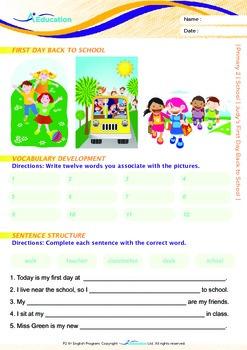 School - Judy's First Day Back to School - Grade 2