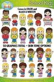 School Kid Characters Clipart {Zip-A-Dee-Doo-Dah Designs}