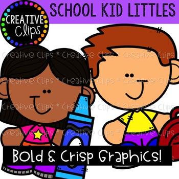 School Kid Littles: School Clipart {Creative Clips Clipart}