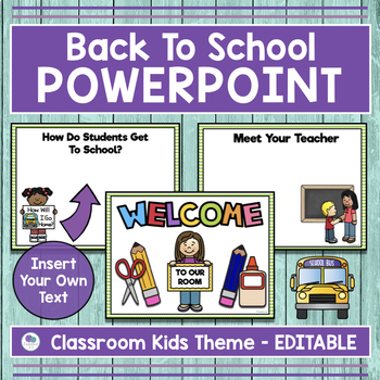 School Kid Theme Back To School Powerpoint for Open House and Meet the Teacher