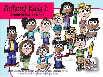 School Kids 2 Clip Art
