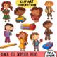 School Kids Back to School Clip Art Set